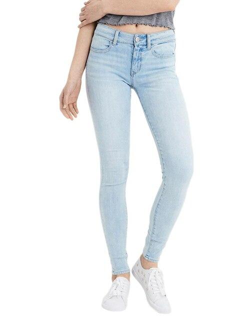 cd5df7731d Jeans American Eagle corte skinny azul claro