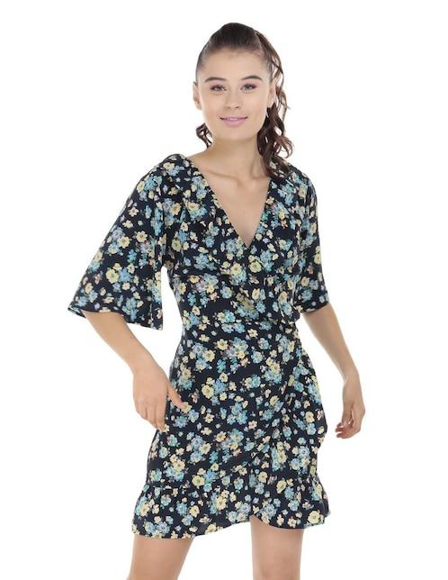 3873af50a Vestido That s It azul con diseño floral casual
