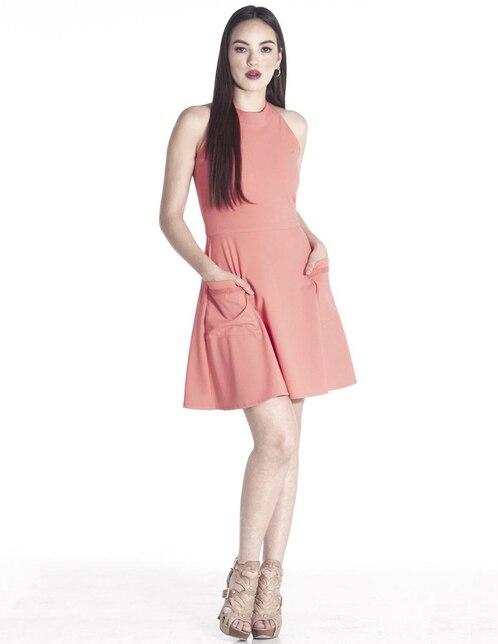 dc9d3627f Vestido casual Sarah Bustani coral