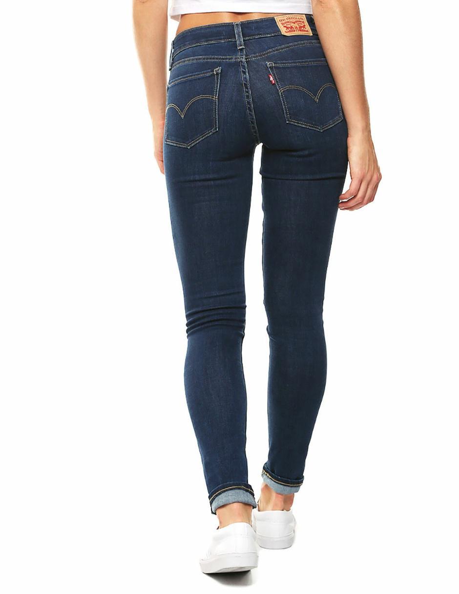 Jeans Liso Levi S 711 Corte Skinny Azul En Liverpool