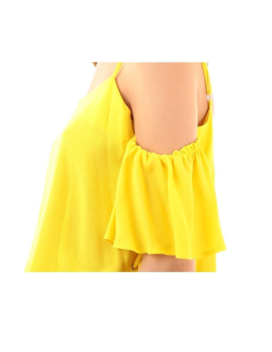 Salsa Blusa Blusa amarillo texturizada color HIWDE29
