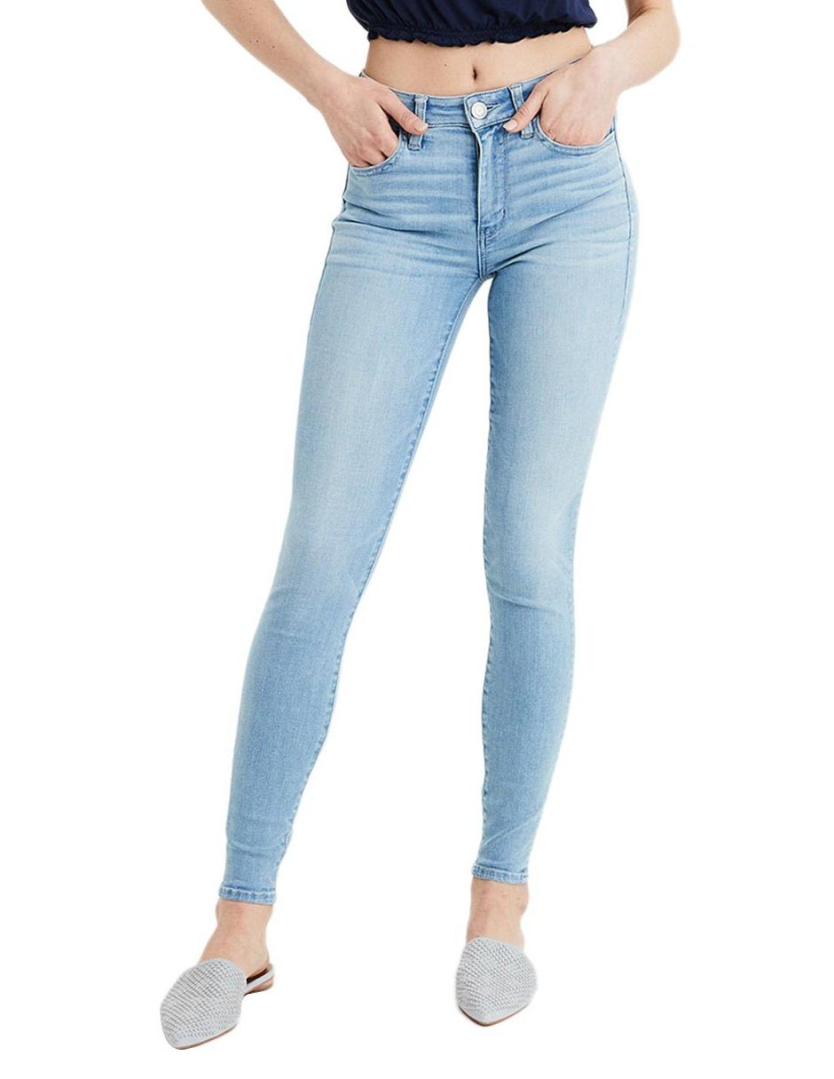 Jeans American Eagle corte skinny azul claro