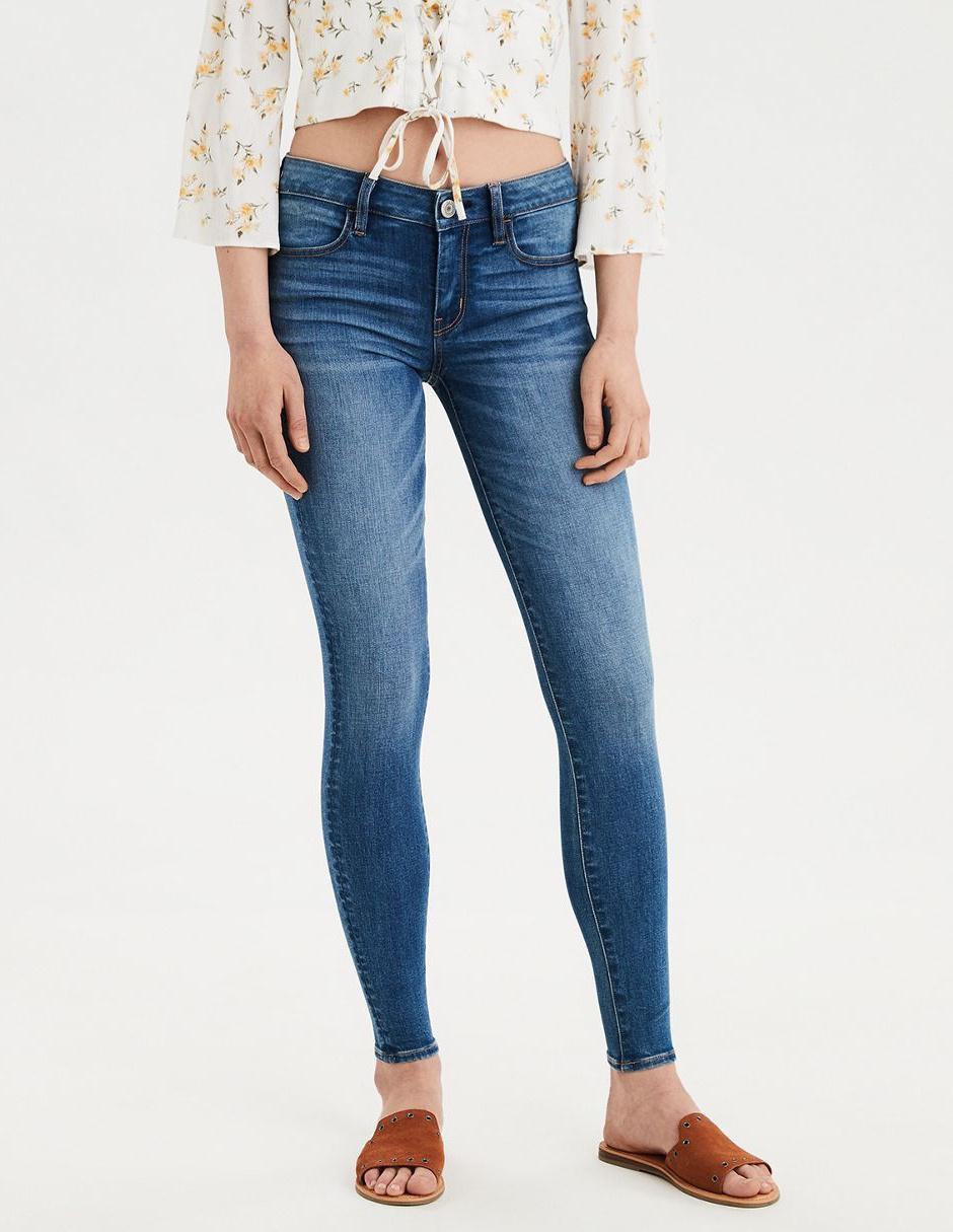 Jeans Skinny American Eagle Claro Corte Media Cintura En Liverpool