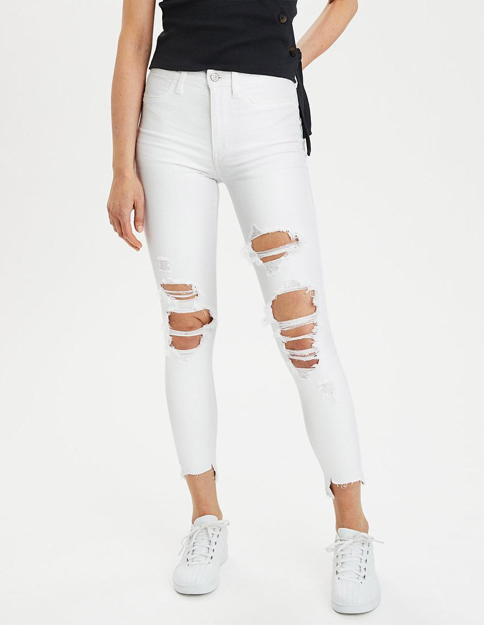 Jeans American Eagle Corte Skinny Blanco En Liverpool
