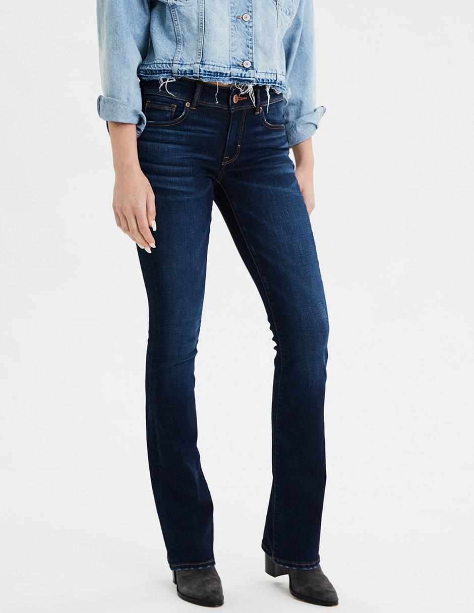 Jeans Bota American Eagle Claro Corte Media Cintura En Liverpool