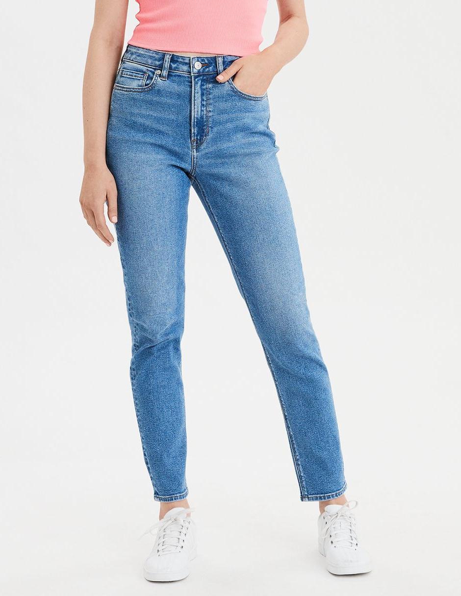 Jeans Mom Jeans American Eagle Corte Media Cintura En Liverpool