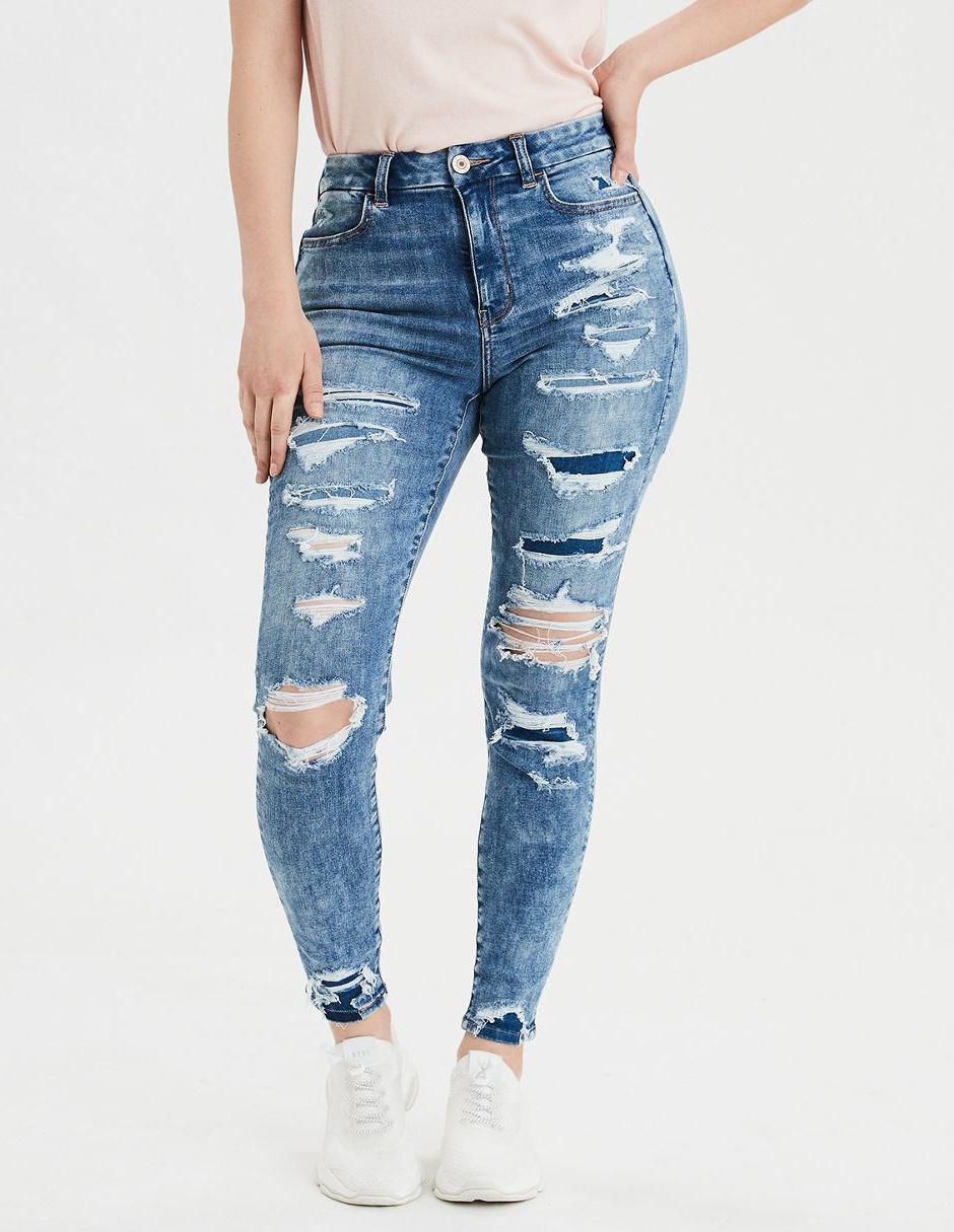 Jeans American Eagle Corte Skinny Azul Medio En Liverpool