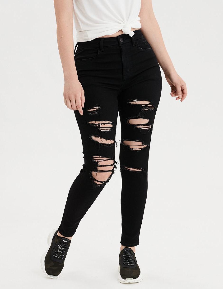 Jeans American Eagle Corte Skinny Negro En Liverpool