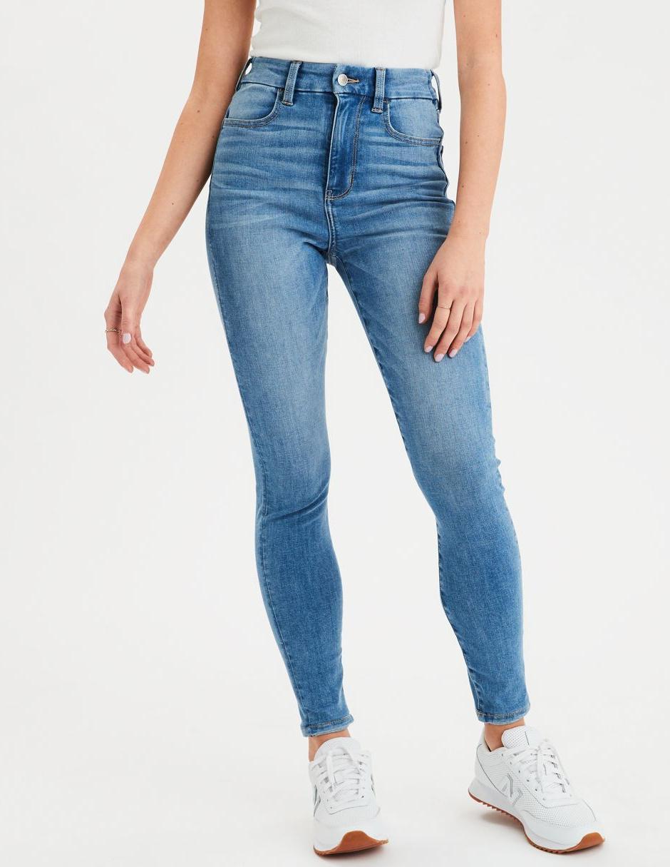 Jeans American Eagle Corte Skinny Azul Claro En Liverpool